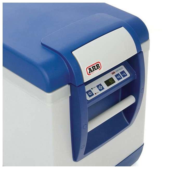 "10800472-ARB + 05059 ARB 50 Quart Car Tailgate Travel Fridge Freezer & Adjustable 40"" to 70"" Ratchet  9"