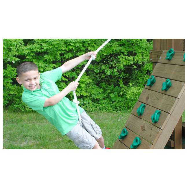 PS18RAL Creative Playthings PS18RAL Raleigh Kids Wooden Outdoor Swing Set Playground 5