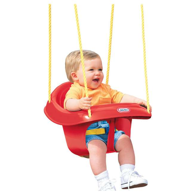 637247C Little Tikes 637247 Highback Plastic Toddler Playset Swing with Seat Belt, Red 1