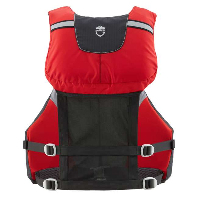 40071.01.103 NRS Chinook OS Type III Fishing Life Vest PFD with Pockets, Large/X Large, Red 1