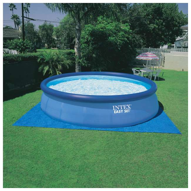 """26165EH-U-A Intex 15'x42"""" Inflatable Above Ground Pool w/ Ladder & Pump  (Open Box) (2 Pack) 3"""