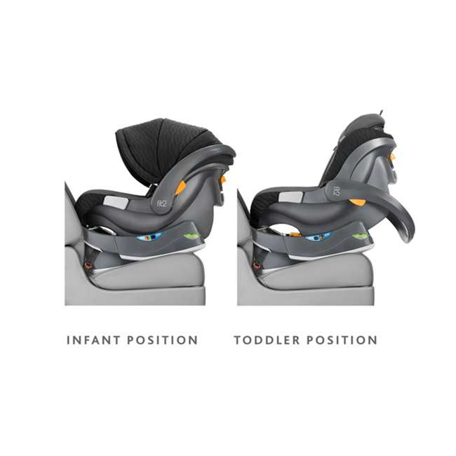 CHI-0507977155 Chicco Fit2 Infant/Toddler Rear Facing Car Seat w/ 2 Stage Base, Black Legato 1