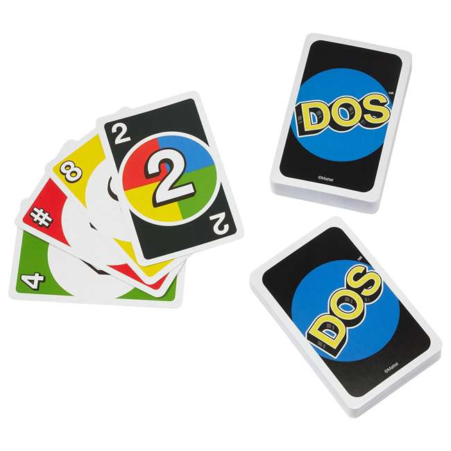 FRM36 Mattel UNO DOS Kids Multiplayer Card Game (2 Pack) 3