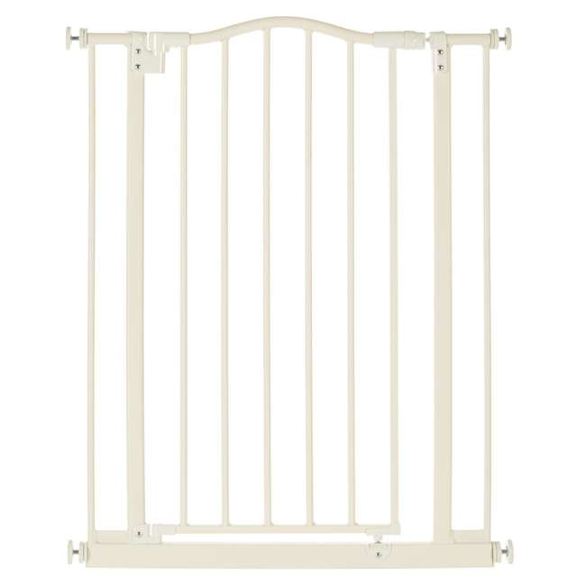 NS-4978 + NS-4974 North States Portico Arch Tall & Wide Safety Gate & 13.42 Inch Extension, Ivory 1