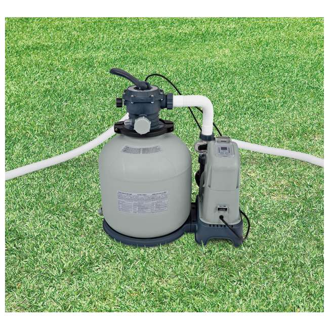 28679EG Intex Krystal Clear 2650 GPH Saltwater System & Sand Filter Pump  2