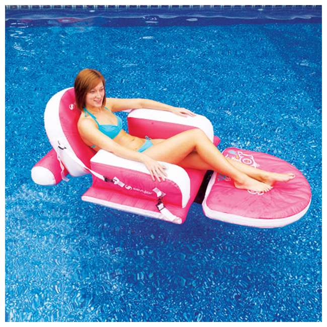 2000003313 Inflatable Pool Lounge - SEVYLOR 3-Position Reclining Chairs w/ Footrest (Pair) 2