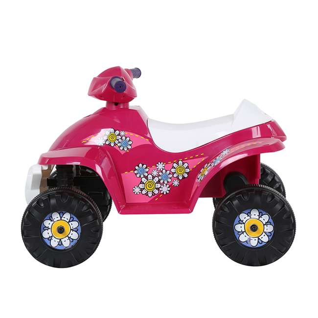 ACQUAD-P-Cam Rollplay 6-Volt Battery Powered Toddler Kids Mini Quad Ride-on, Flower Pink 1