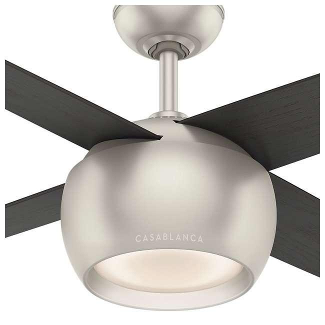 59333 Casablanca 159931 Valby 54 Inch 4 Blade Quiet LED Light Ceiling Fan, Matte Nickel 4