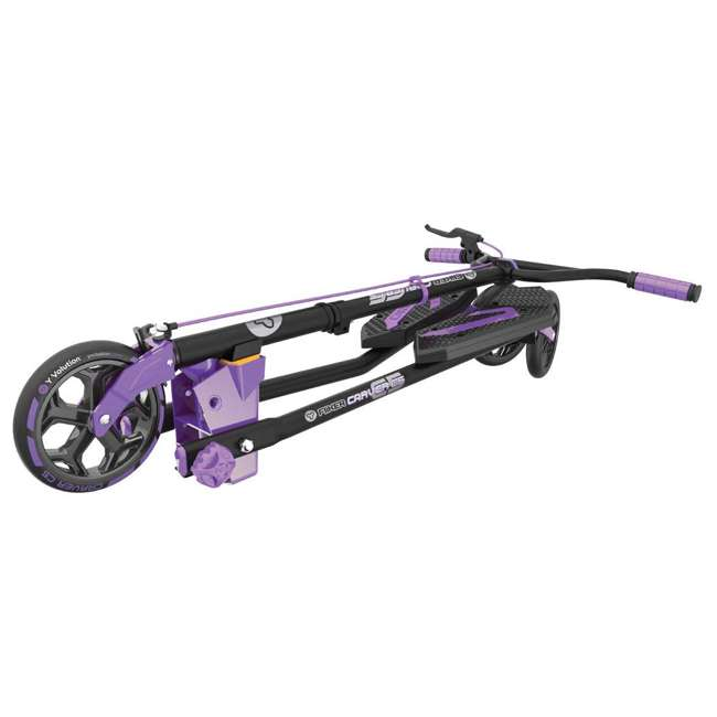 100607 Yvolution Y Fliker Carver C5 Kids/Adult Foldable Wiggle Drifting Scooter, Purple 2