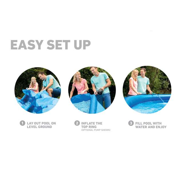 """26165EH-U-A Intex 15'x42"""" Inflatable Above Ground Pool w/ Ladder & Pump  (Open Box) (2 Pack) 5"""