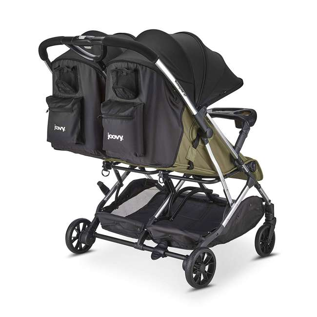 8232 + 9139 Double Folding Adjustable Recline Stroller w/ Ventilated Rain Cover 2