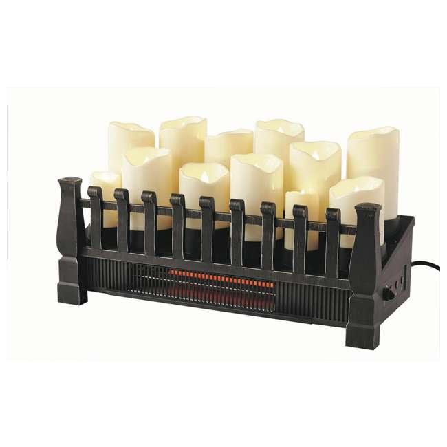 DFI030ARU-06 Duraflame 1500 Watt 5200 BTU Electric Infrared Heat Candle Logset Heater, Black