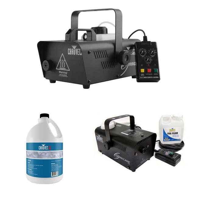 H1600 + H700 + FJU CHAUVET DJ Hurricane 1600 Fog Machine + Hurricane H700 Fog Machine + Fog Juice