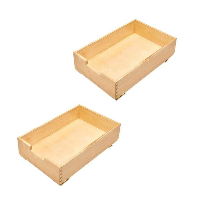 4WDB-15 Rev-A-Shelf 4WDB-15 14 Inch Wood Pull Out Organization Drawer, Maple (2 Pack)