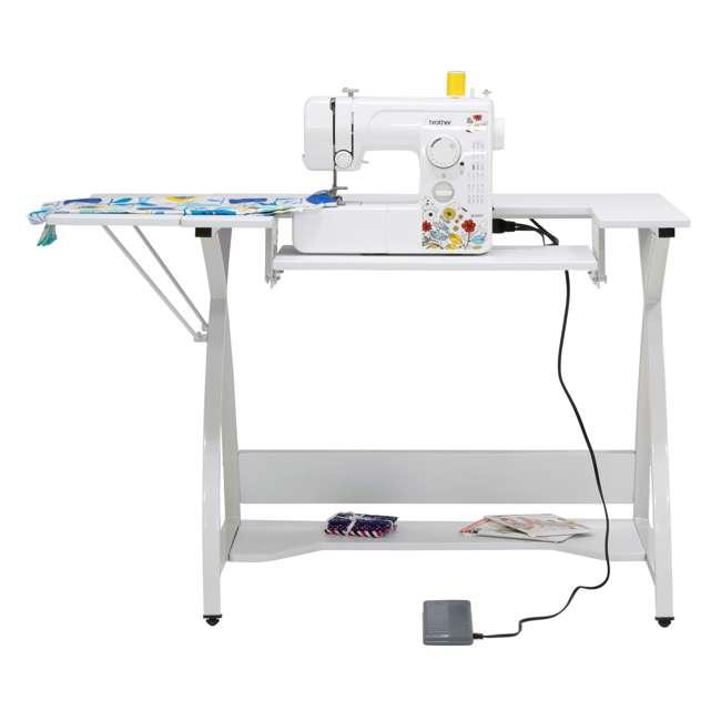 STDN-38017 Sew Ready STDN-38017 Venus Sewing Machine Craft Hobby Table Computer Desk, White 3