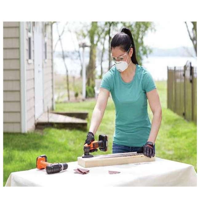 BDCK502C1 + BDMKIT101C Black & Decker Drill, Jig Saw, Sander & Flashlight Kit & Picture Hanging Kit 5