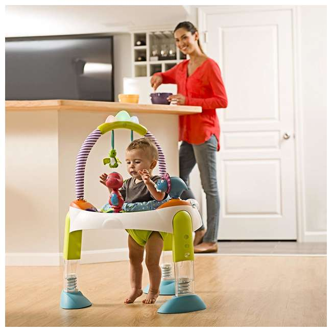 EVEN-61611769-U-A Evenflo Exersaucer Fast Fold & Go D is for Dino Baby Bouncer (Open Box) 4