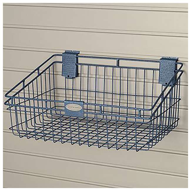 MB1218 Storage Trends 12 x 18 Inch Wire Basket, Blue 3