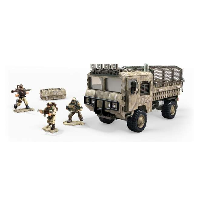 FVG06 Mega Construx LNK2 Call of Duty Desert Heavy Tactical Cargo Truck and Soldiers