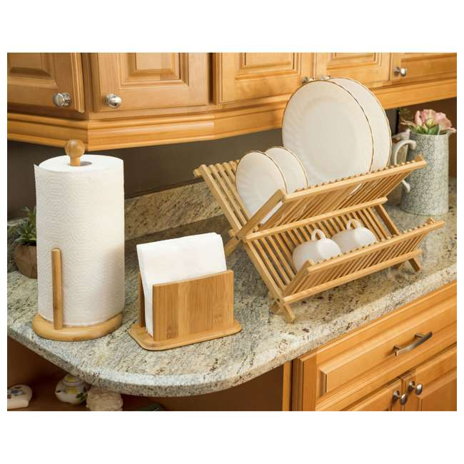 DD01018 + DR01036 + CH44543 Home Basics Dish Drainer & Drying Rack & Cooking Utensil Holder 4