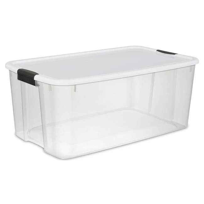 4 X 19909804-U-A Sterilite 116 Quart Latching Storage Tote Box Containers Clear (Open Box)(4Pack)