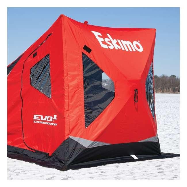 ESK-22100 Eskimo ESK-22100 Evo Crossover 1-Person Flip-Style Ice Fishing Tent Shelter, Red 1