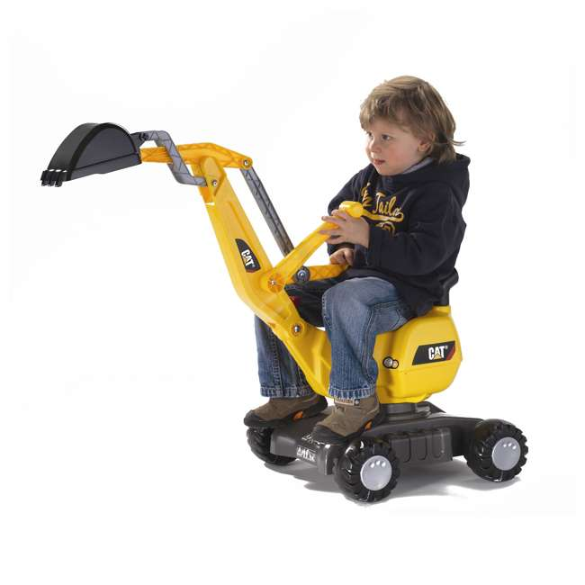 KET-421015-U-A Rolly Toys CAT 360 Degree Excavator Shovel Digger Kids Ride On Toy (Open Box) 1
