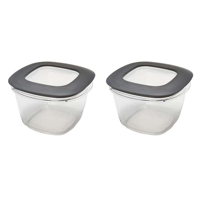1951296 Rubbermaid Premier Easy Find Lids Clear Storage Containers  (2 Pack)