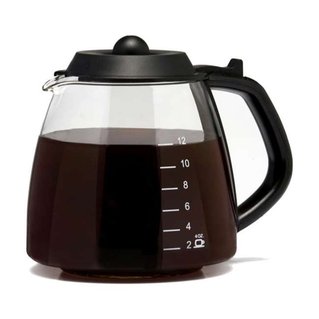 1-GL312-BL-4 Cafe Brew 12-Cup Millennium Pause and Serve Replacement Glass Carafe, Black