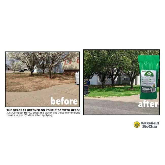 WFBCSC-BAG-40 + WFHERO-CMP-40 Wakefield 1 Cu Ft Biochar Organic Garden Soil Conditioner & 1 Cu Ft Compost 11