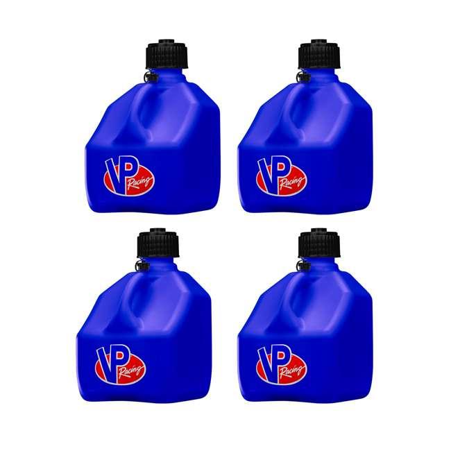 4 x 4182 VP Racing Fuels 3 Gallon Square Heavy Duty Portable Racing Utility Jug, Blue (4 Pack)