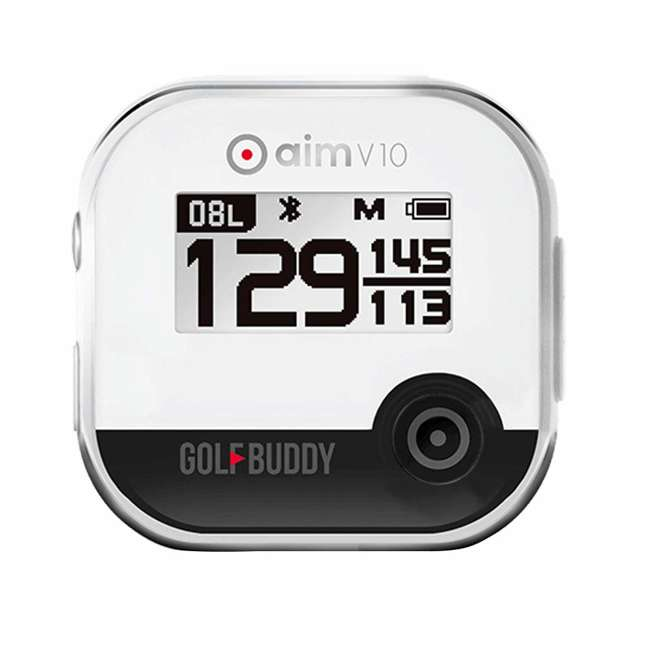 AIM-V10-CR + MUL-TEE-3-Pack GolfBuddy Aim V10 LCD Display Talking Golf Green GPS + 3 Pack Adjustable Tee Set 1