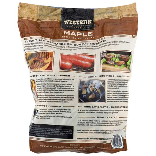 28085 Western BBQ Maple Barbecue Flavor Wood Cooking Chunks for Grilling and Smoking 3