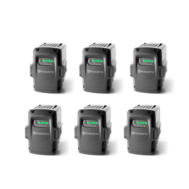 6 x BLi80 Husqvarna 36-Volt 2.1 Ah Lithium-Ion Battery (6 Pack)