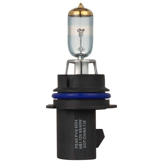 9004PVG-2BPP PEAK Lighting Power Vision Gold 9004 HB1 65W Brightest White Headlight Bulbs 1