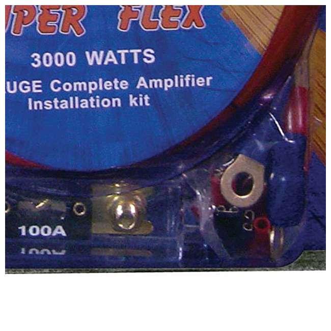 2x4GAMPKIT-SFLEX +44DCWC122 +2x R1100M +2x BCAP2.2 Q Power Wiring Kit (2 Pack) & Box & Boss Mono (2 Pack) & Capacitor (2 Pack) 4