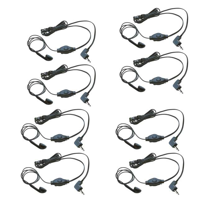 4 x 2 x GA-EBM2 Cobra Earbud & Microphone for Walkie Talkies (8 Pack)