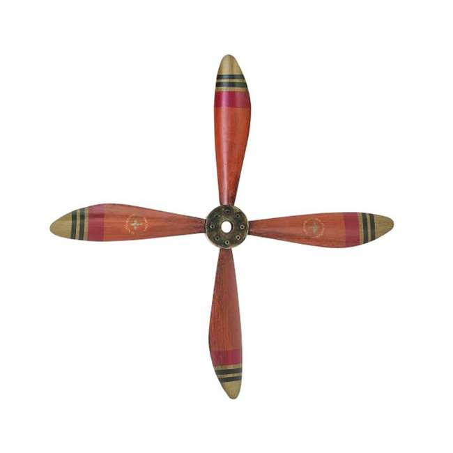 Deco 79 wall hanging decor 34 inch metal airplane for Aircraft propeller decoration