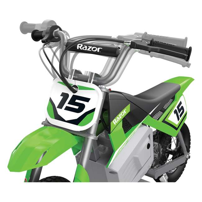 15128030 + 97775 + 96785 Razor Dirt Rocket MX400 Electric Moto Bike with Helmet, Elbow & Knee Pads 7