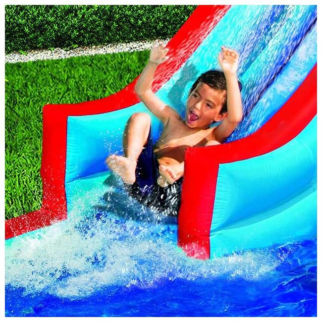 35076 Banzai Slide N Soak Splash Park Inflatable Outdoor Kids Water Park (Open Box) 3