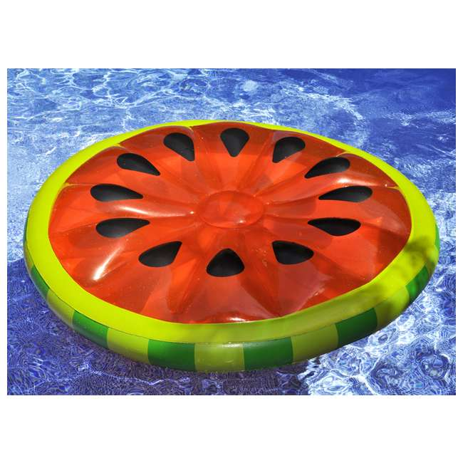 6 x 90544 Swimline Inflatable Watermelon Slice Island Raft (6 Pack) 4