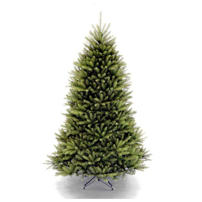 DUH3-75 National Tree Dunhill Fir Full Unlit Artificial Synthetic Christmas Tree, Green