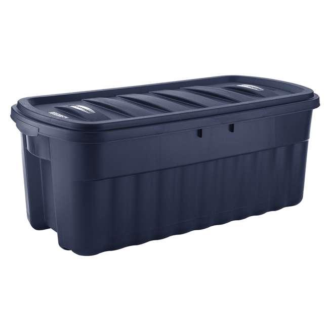 RMRT500007-4pack Rubbermaid Roughneck 50 Gallon Storage Tote, Dark Indigo Metallic (4 Pack)