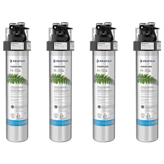 4 x EV926271 Everpure H-104 125 PSI Compact Drinking Water Filtration System (4 Pack)