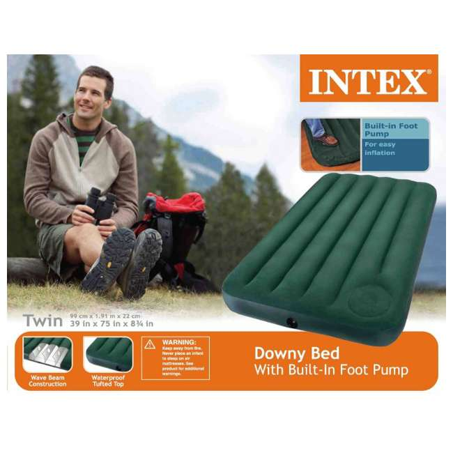 3 x 66927E-U-A INTEX Twin Air Bed Outdoor Downy Inflatable Mattress 66927E (Open Box) (3 Pack) 3