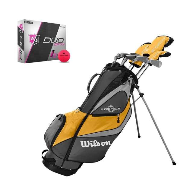 WGGC43700 + WGWP43500 Wilson Profile XD Men's RH Golf Club Complete Set and Balls