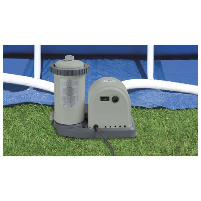 "26321EH + 6 x 29000E Intex 16' x 48"" Ultra Frame Above Ground Pool Set and Six Filter Cartridges 3"