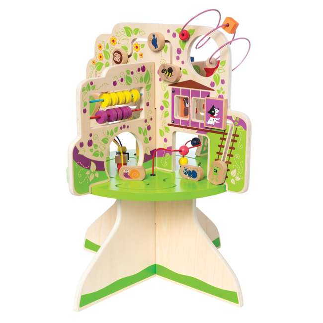 212280 Manhattan Toy Company Wood Tree Top Adventure Activity Play Center for Toddlers 2