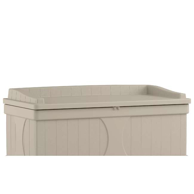DB9500 Suncast 99 Gallon Deck Box and Bench with Seating Capacity for 2 (Open Box)