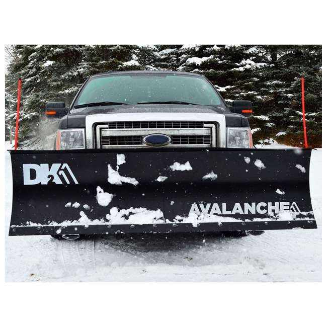 AVAL8422 DK2 Avalanche AVAL8422 Universal Snow Plow Kit 84 x 19 x 2 Inch Receiver Mount 3